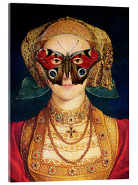 Acrylic print  The butterfly mask (by Hans Holbein)