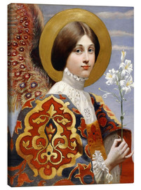Canvas print  Angel of annunciation - Eleanor Fortescue-Brickdale