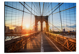 Aluminium print  Brooklyn Bridge at sunrise, New York - Jan Christopher Becke
