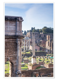 Premium poster Ruins of the ancient roman forum