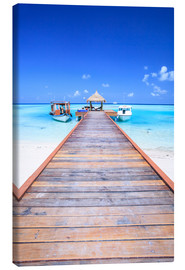 Canvas print  Pier into the ocean, Maldives - Matteo Colombo
