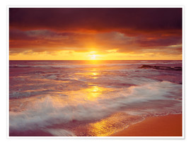 Premium poster  Sunset on the Pacific - Jaynes Gallery