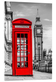 Acrylic print  London phone booth - euregiophoto