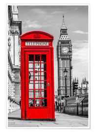 Premium poster  London phone booth - euregiophoto