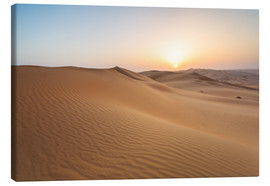 Canvas print  Sunrise over sand dunes, empty quarter desert, Abu Dhabi, Emirates - Matteo Colombo