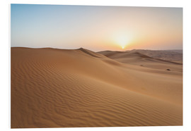 Foam board print  Sunrise over sand dunes, empty quarter desert, Abu Dhabi, Emirates - Matteo Colombo