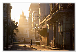 Premium poster  Road at dawn, Havana - Lee Frost