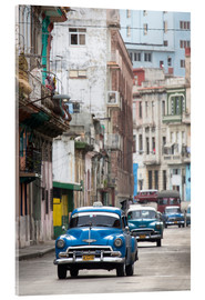 Acrylic print  Taxis in Avenue Colon, Cuba - Lee Frost