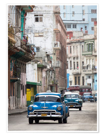 Premium poster  Taxis in Avenue Colon, Cuba - Lee Frost