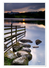 Premium poster  Loughrigg Tarn in England - Jeremy Lightfoot
