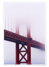 Premium poster  Golden Gate Bridge in the fog - Jean Brooks