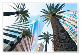 Premium poster  Downtown, Los Angeles, California, United States of America, North America - Gavin Hellier