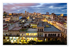 Premium poster  View over Havana - Lee Frost