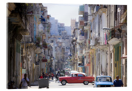 Acrylic print  In the streets of Havana - Lee Frost
