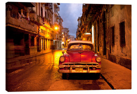 Canvas print  Red vintage American car in Havana - Lee Frost