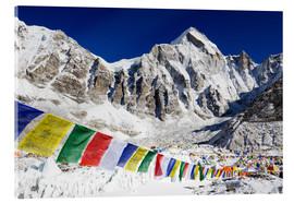 Acrylic print  Prayer flags at the case camp of Mount Everest - Christian Kober