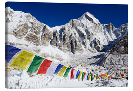 Canvas print  Prayer flags at the case camp of Mount Everest - Christian Kober