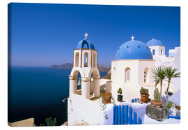 Canvas print  Oia (Ia), island of Santorini (Thira), Cyclades Islands, Aegean, Greek Islands, Greece, Europe - Sergio Pitamitz
