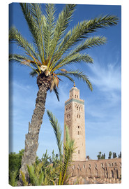 Canvas print  Minaret of the Koutoubia Mosque, UNESCO World Heritage Site, Marrakech, Morocco, North Africa, Afric - Nico Tondini