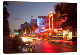 Canvas print  Ocean Drive, South Beach, Art Deco district, Miami Beach, Miami, Florida, United States of America, - Angelo Cavalli