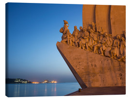 Canvas print  Monument to Discoveries, Belem, Lisbon, Portugal, Europe - Angelo Cavalli