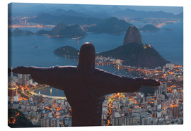 Canvas print  Christ the Redeemer, Corcovado - Angelo Cavalli