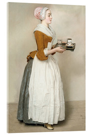 Acrylic print  The Chocolate Girl - Jean Etienne Liotard