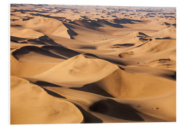 Foam board print  Aerial view of the dunes of the Namib Desert, Namibia, Africa - Roberto Sysa Moiola