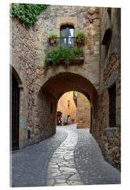 Acrylic print  Alley in Pals, Catalonia - Stuart Black