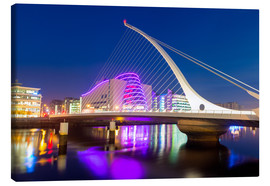 Canvas print  Samuel Beckett Bridge and the Convention Centre Dublin, River Liffey, Dublin, County Dublin, Republi - Chris Hepburn