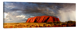 Canvas print  Uluru (Ayers Rock), Uluru-Kata Tjuta National Park, UNESCO World Heritage Site, Northern Territory, - Giles Bracher