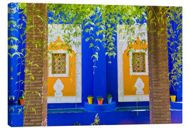 Canvas print  Windows in the Majorelle Gardens - Matthew Williams-Ellis