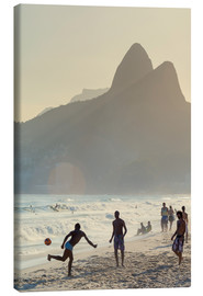 Canvas print  Locals playing football on Ipanema - Alex Robinson