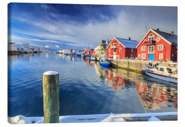 Canvas print  colorful fisherman houses in Norway - Roberto Sysa Moiola