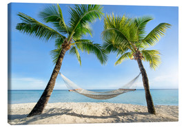Canvas print  Hammock at the beach in the south pacific - Jan Christopher Becke