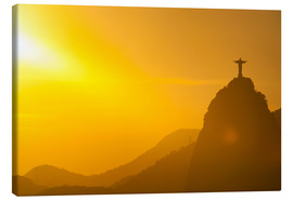 Canvas print  View from the Sugarloaf of Christ the Redeemer statue on Corcovado, Rio de Janeiro, Brazil, South Am - Michael Runkel