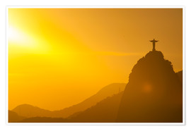 Premium poster  View from the Sugarloaf of Christ the Redeemer statue on Corcovado, Rio de Janeiro, Brazil, South Am - Michael Runkel