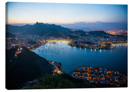 Canvas print  View from the Sugarloaf at sunset, Rio de Janeiro, Brazil, South America - Michael Runkel