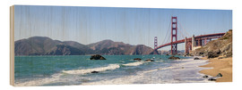 Wood print  San Francisco Panorama - Jan Christopher Becke