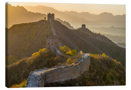 Canvas print  Great Wall of China, UNESCO World Heritage Site, dating from the Ming Dynasty, section looking towar - Alan Copson