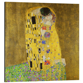 Aluminium print  The kiss - Gustav Klimt