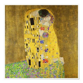 Premium poster  The kiss - Gustav Klimt