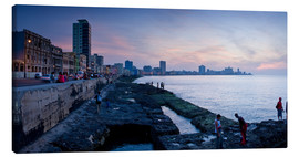 Canvas print  The Malecon, Havana, Cuba, West Indies, Central America
