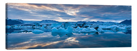 Canvas print  Jokulsarlon, South Iceland, Northern Europe