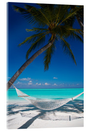 Acrylic print  Hammock on a tropical beach - Sakis Papadopoulos