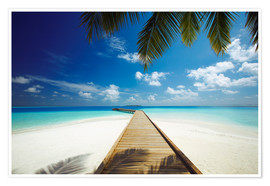 Premium poster  Wooden jetty out to tropical sea - Sakis Papadopoulos