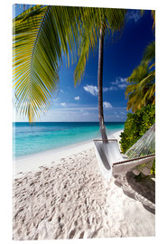 Acrylic print  Hammock on tropical beach - Sakis Papadopoulos