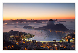 Premium poster  Sugarloaf Mountain and Botafogo Bay - Ian Trower