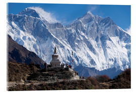 Acrylic print  Tenzing Norgye Stupa & Mount Everest - John Woodworth