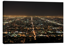Canvas print  Los Angeles at night - Wendy Connett